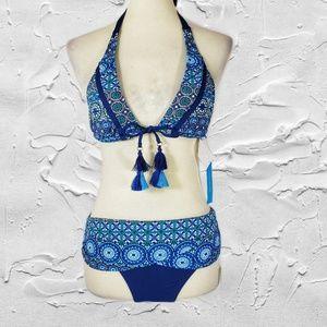 Bleu Rod Beattie Blue Two-Piece Bikini Set Sz 4